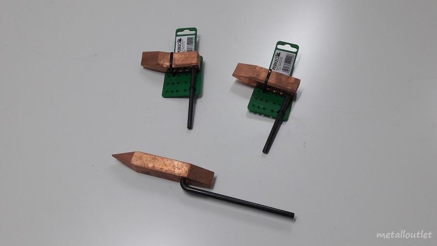 l tkolben kupferst ck hammerform spitzform metall outlet. Black Bedroom Furniture Sets. Home Design Ideas